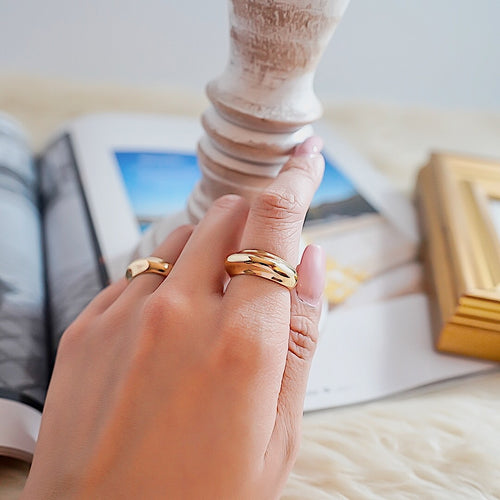 THE GOLD ELEVATED BAND RING