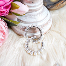 Load image into Gallery viewer, THE AMIDALA SILVER PEARL HOOPS