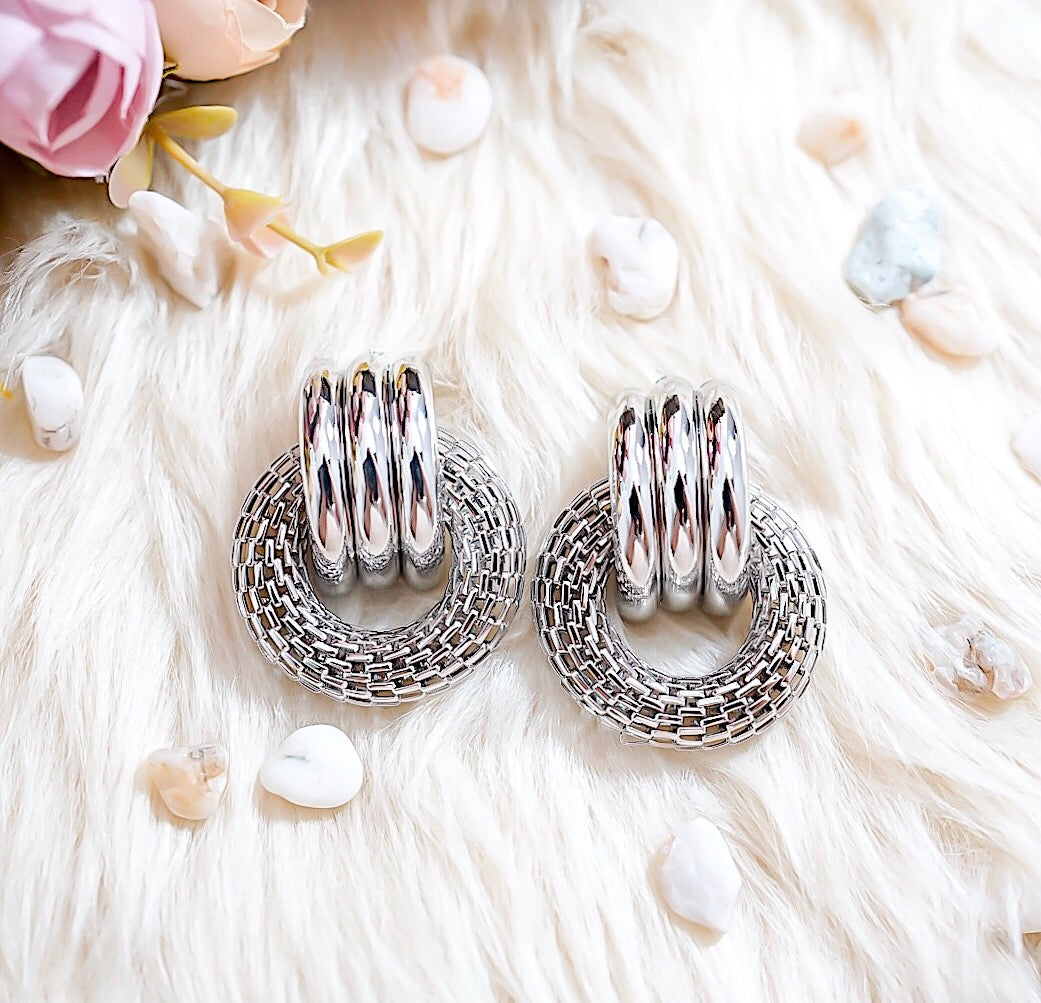 THE SILVER SALVATORE EARRINGS