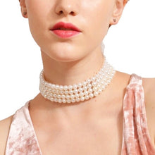 Load image into Gallery viewer, THE OLIVIA MULTILAYER PEARL CHOKER