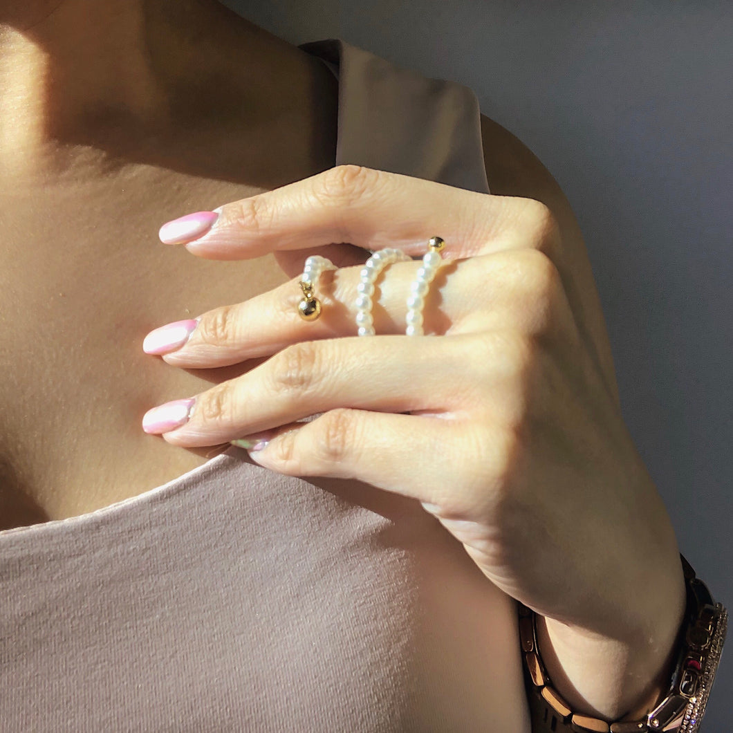 THE ATLANTIS TWISTED PEARL RING