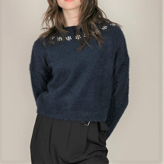 Cropped Soft Sweater