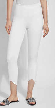 Lynette Scallop Edge Denim (White)