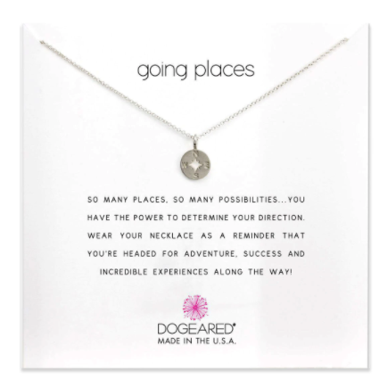 Going Places, Compass Disc Necklace