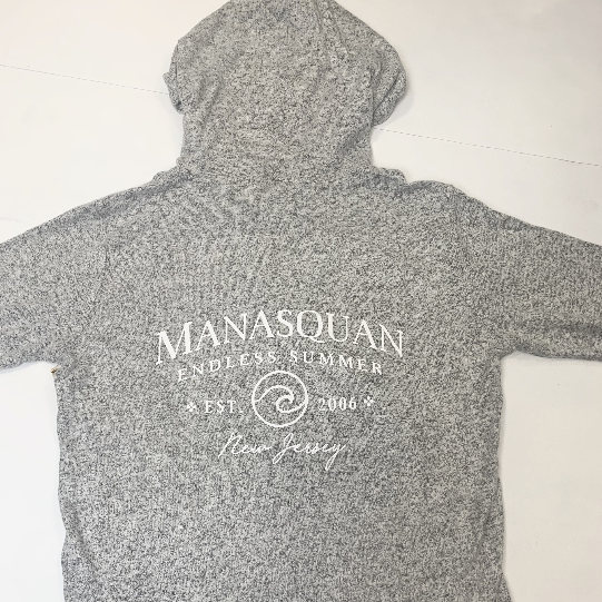Manasquan Brushed Grey Zip Up Hoodie