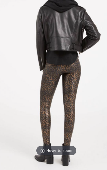 Faux Leather Leopard Legging 20270R