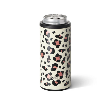 Skinny Can Cooler Luxy Leopard