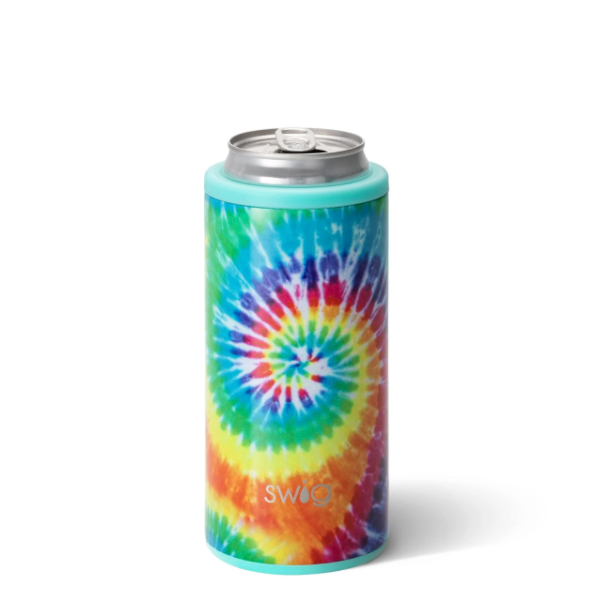 Skinny Can Cooler Swirled Peace