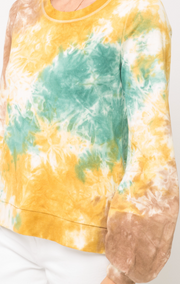 Tie Dye Terry Pullover