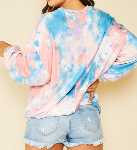 Tie Dye Tunic Pullover