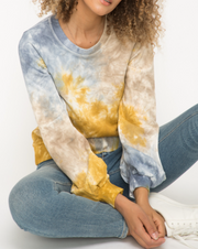 Tie Dye Terry Pullover (Blue Mix)