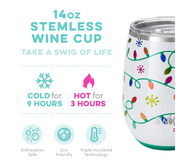 Insulated Stemless Wine Cup (Let It Glow)