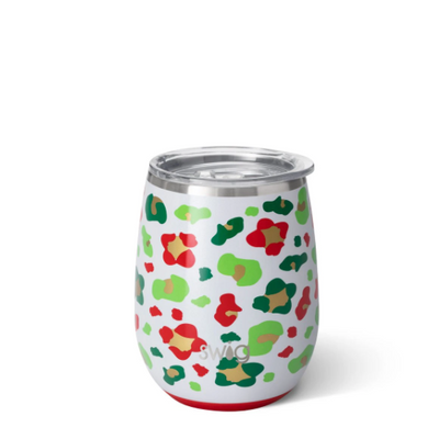 Insulated Stemless Wine Cup (Jingle Jungle)