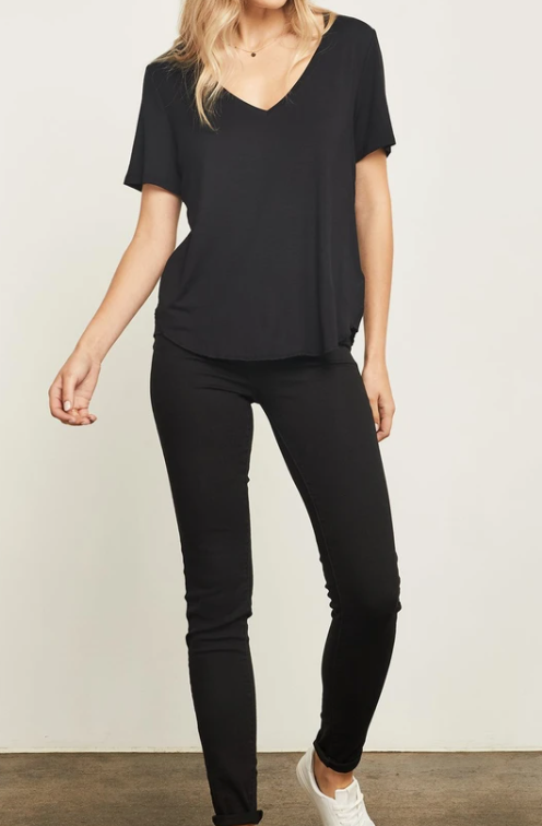 Lewis V-Neck Tee (Black)