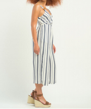 Striped Wrap Jumpsuit