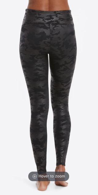 Faux Leather Camo Legging 20185R Matte Black Camo