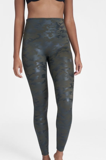 Faux Leather Camo Legging 20185R Green Camo