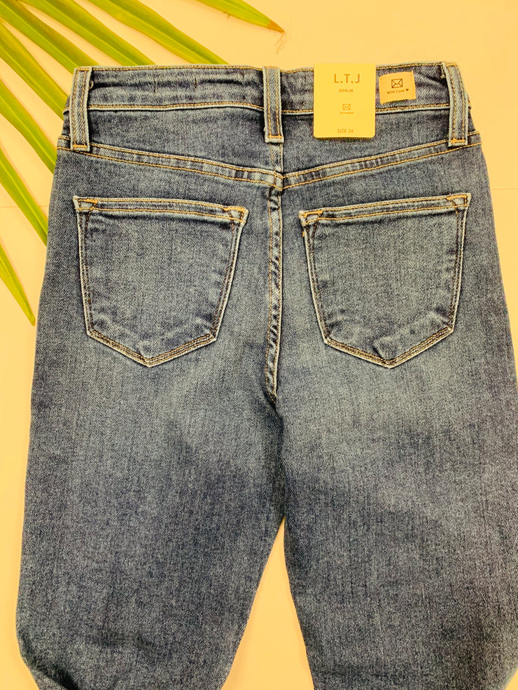 Siena Distressed Denim (Medium Wash)