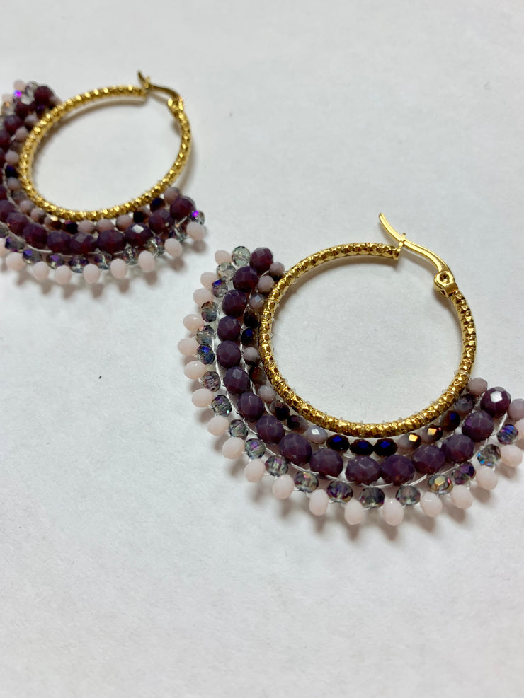 Purple Stone Earring