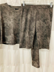 Crop Tie Dye Long Sleeve Top