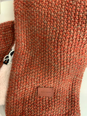 Lined Twist Scarf (Rust)