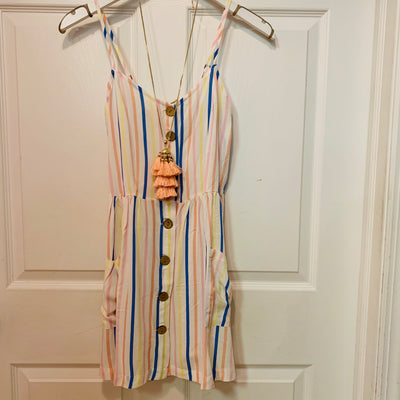 Button Front Dress (Rainbow)