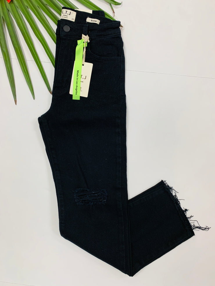 Siena Distressed Denim (Black Wash)