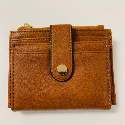 Mini Snap Card Wallet (Brown)
