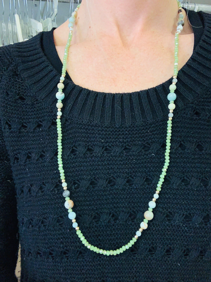 Lime Sparkle Necklace
