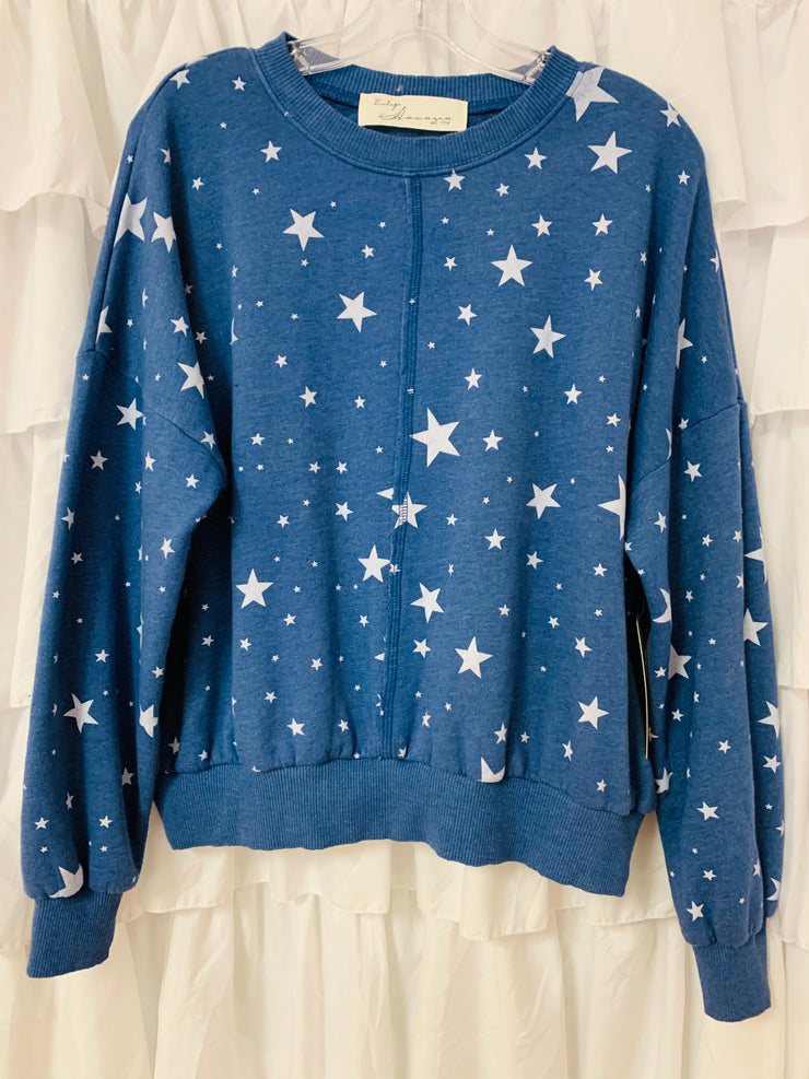 Star Print Pullover