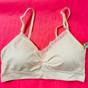 Seamless Bra With Lace (Heavenly Pink)