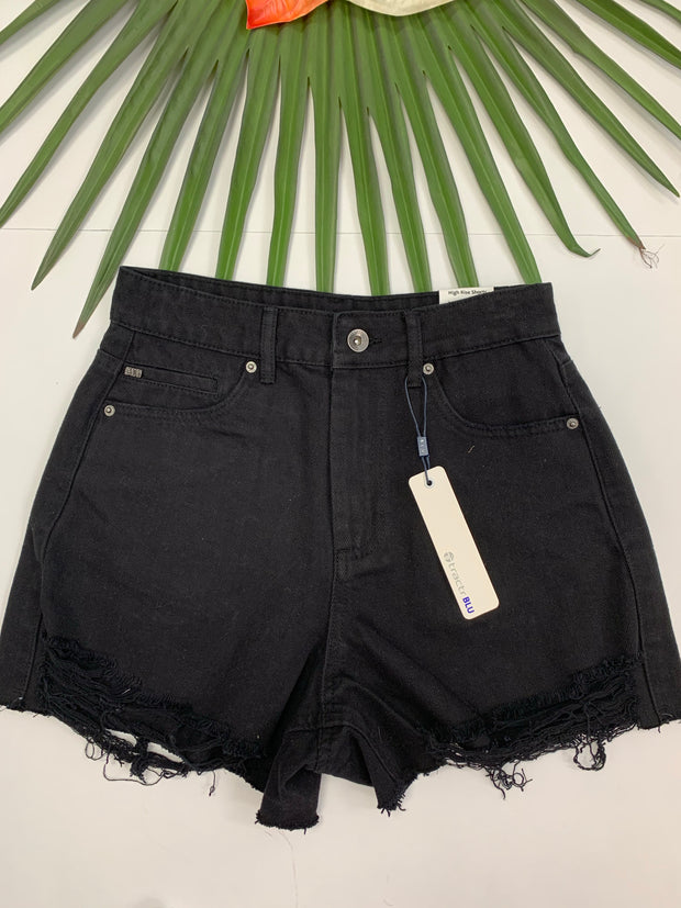 High Rise Shorty Short (Black)