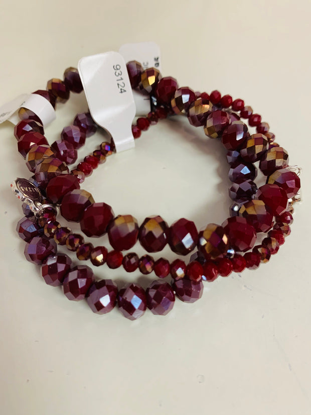 Sparkle Set of 3 (Burgundy/Cranberry)