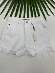 High Rise Shorty Short (White)