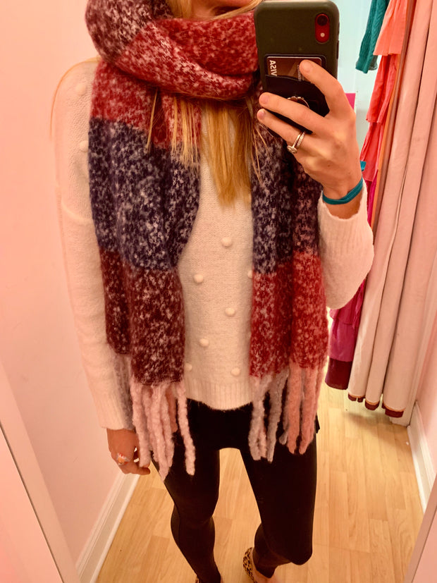 Super Soft Plaid Wrap Scarf