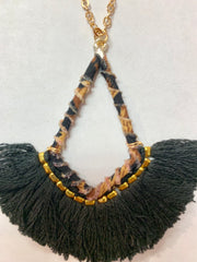 Wrapped Necklace with Fringe