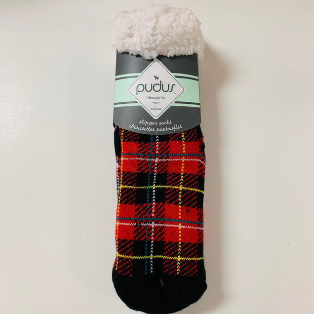 Plaid Lumberjack Slipper Socks