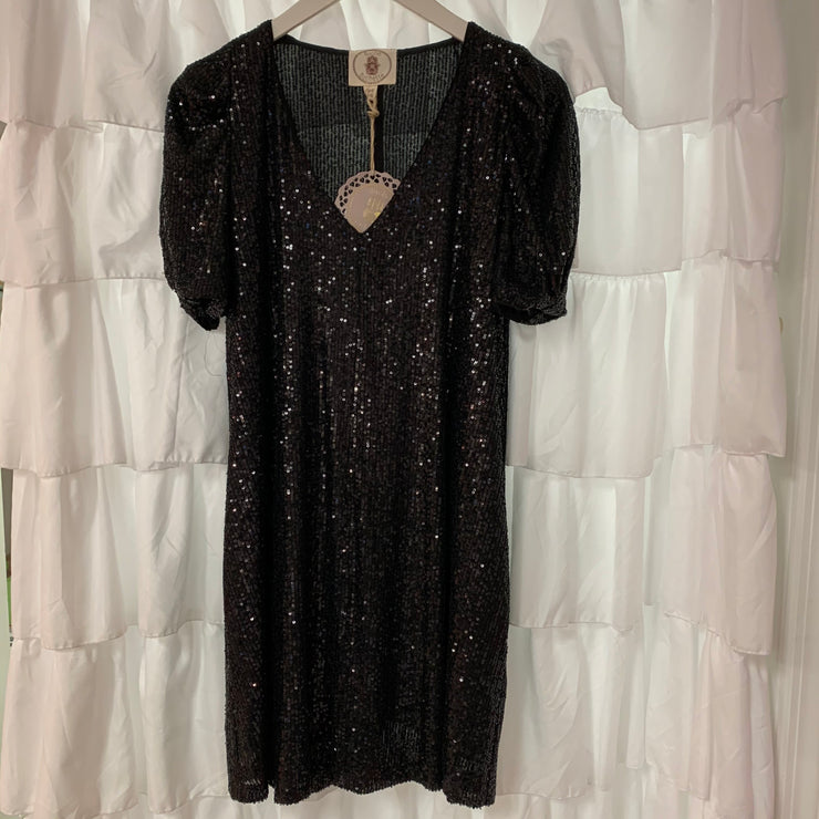 Sequin Babydoll Dress