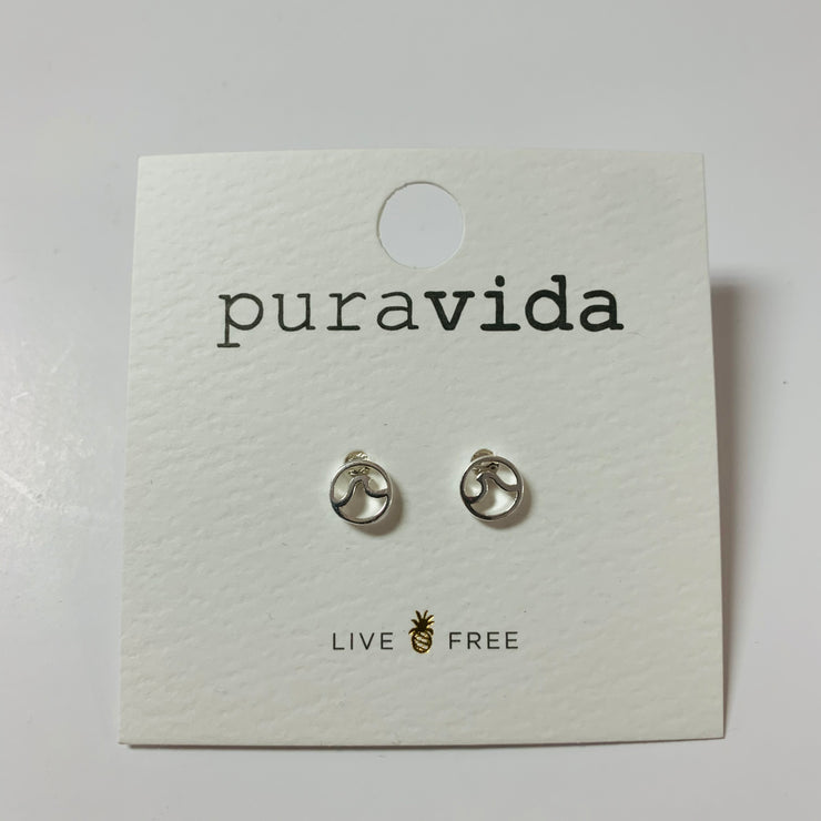Circle Wave Stud Earring
