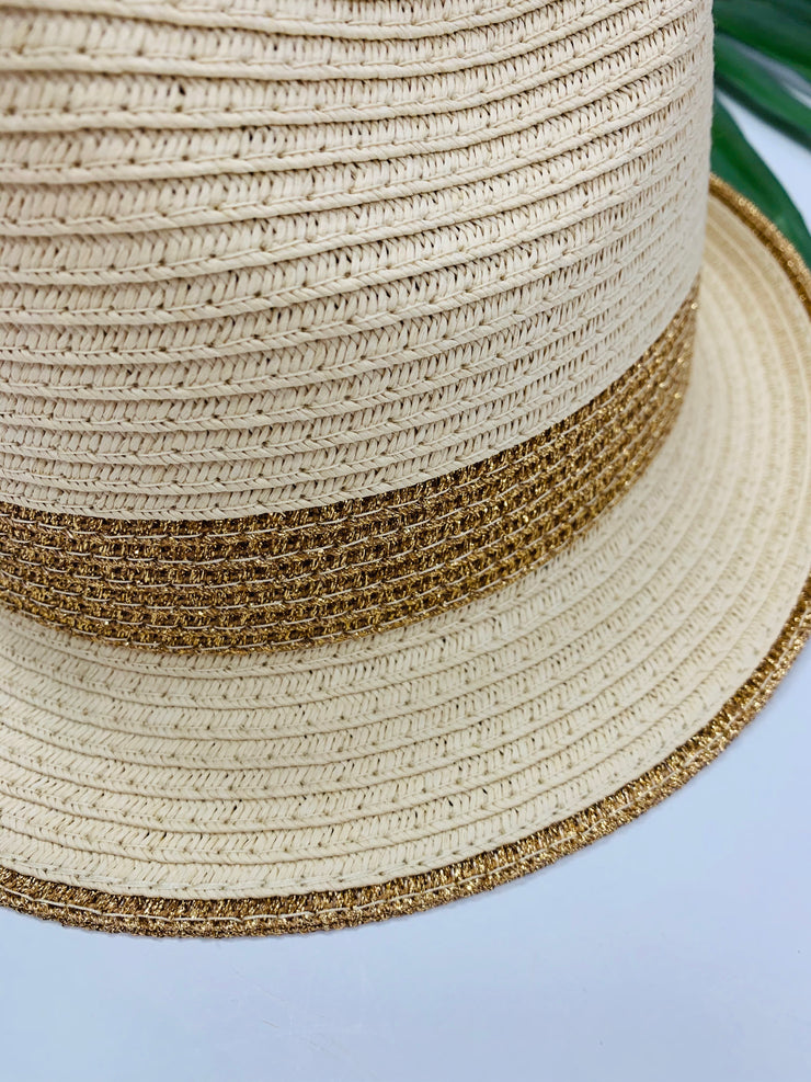 Metallic Stripe Fedora