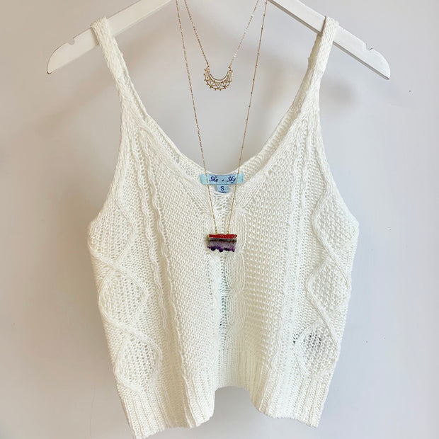 Crop Cable Knit Cami