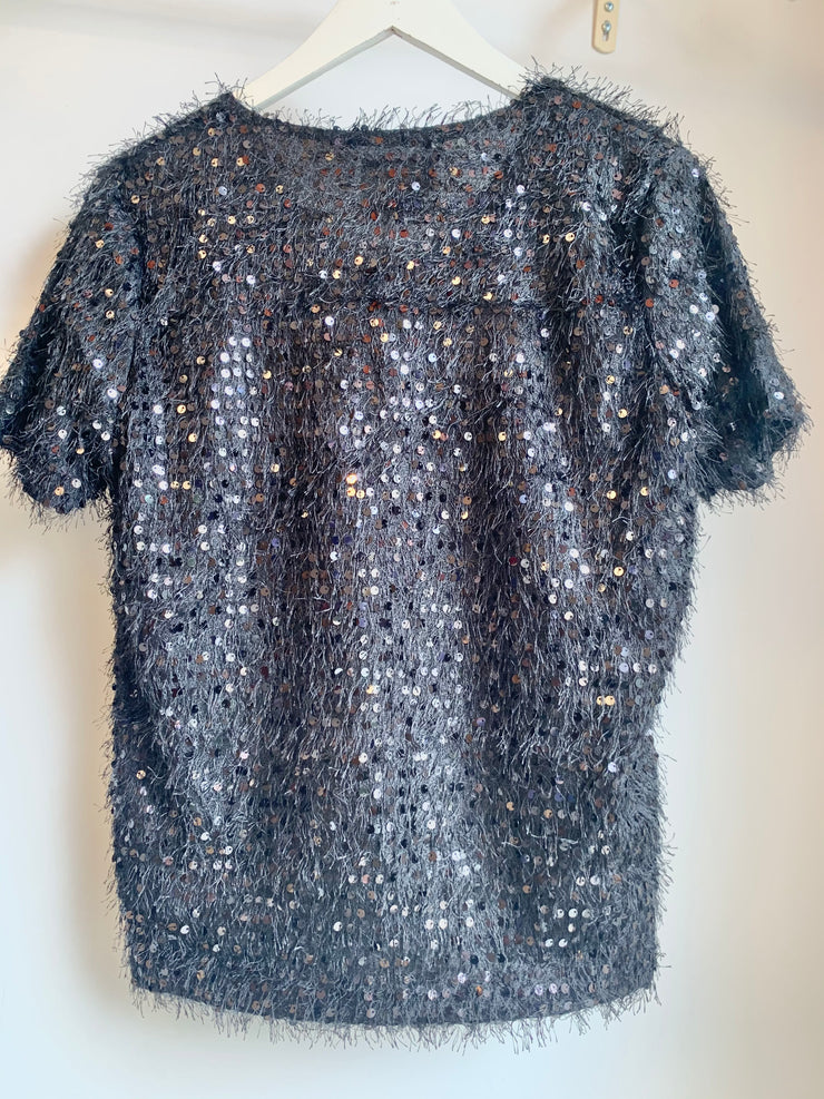 Sparkle Blouse (Black)