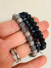 Sparkle Set of 3 (Charcoal/Navy/Black)