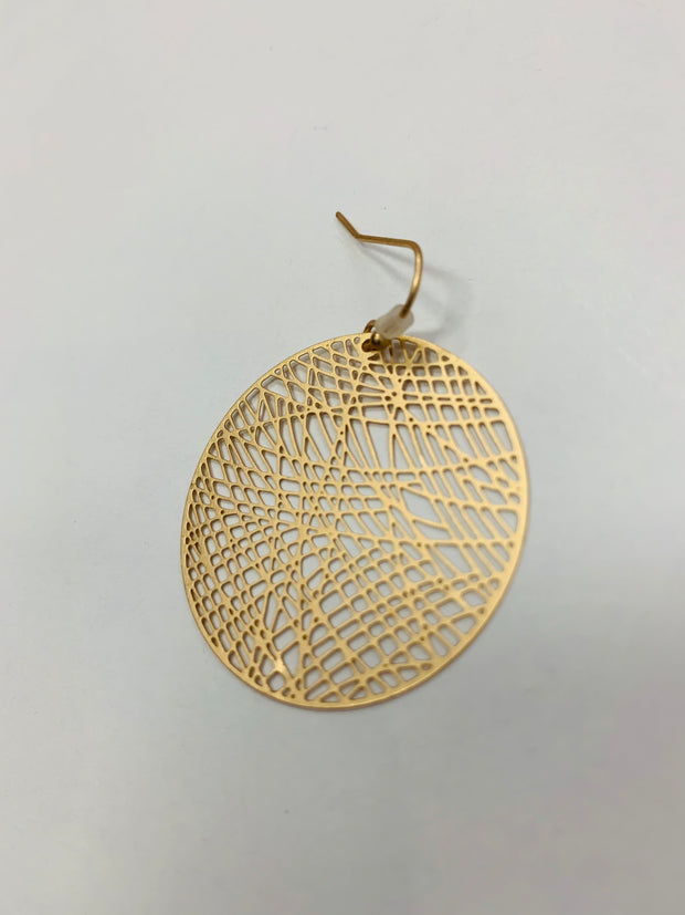 Laser Etch Circle Earring