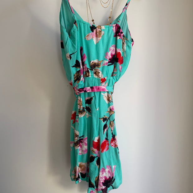 Floral Romper with Tie