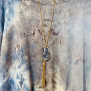 Gold Trimmed Stone Necklace