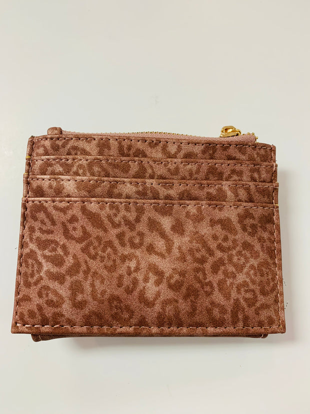 Mini Snap Card Wallet (Cheetah Mauve)