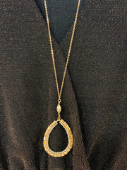 Glitz Teardrop Necklace