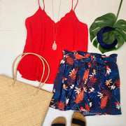 Scallop Cami (Red)