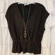 Cinched Sparkle Blouse
